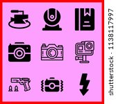 simple icon set of camera... | Shutterstock .eps vector #1138117997