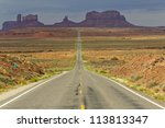 road through monument valley | Shutterstock . vector #113813347