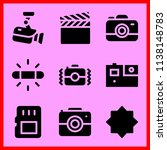 simple icon set of camera... | Shutterstock .eps vector #1138148783