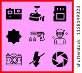 simple icon set of camera... | Shutterstock .eps vector #1138149323