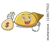 with money bag mollusk shell... | Shutterstock .eps vector #1138177013