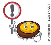 with sign sea urchin character... | Shutterstock .eps vector #1138177277