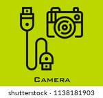 camera icon signs | Shutterstock .eps vector #1138181903