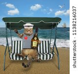 The Cat Sailor With A Bottle O...