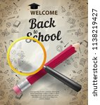 welcome  back to school... | Shutterstock .eps vector #1138219427