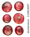 Onions Red Various Isolated On...