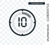 the 10 minutes vector icon... | Shutterstock .eps vector #1138305713