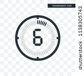 the 6 minutes vector icon... | Shutterstock .eps vector #1138305743