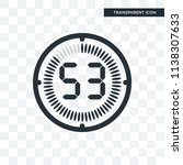 the 53 minutes vector icon... | Shutterstock .eps vector #1138307633