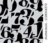 sliced serif numbers seamless... | Shutterstock .eps vector #1138316573