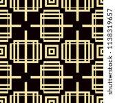 art deco pattern. seamless... | Shutterstock .eps vector #1138319657