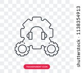 settings vector icon isolated... | Shutterstock .eps vector #1138354913