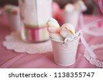 decor. sweet marshmallows.... | Shutterstock . vector #1138355747
