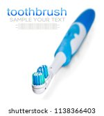 electric toothbrush isolated on ... | Shutterstock . vector #1138366403