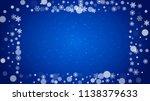 winter border with white... | Shutterstock .eps vector #1138379633