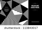 print  vector poster design... | Shutterstock .eps vector #113843017