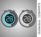 electronic digital stopwatch.... | Shutterstock .eps vector #1138444973