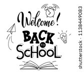 back to school hand drawn... | Shutterstock .eps vector #1138449083