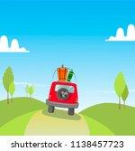 car travel holidays vacation... | Shutterstock .eps vector #1138457723