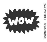 wow. sticker for social media... | Shutterstock .eps vector #1138461593