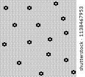 vector fishnet pattern in... | Shutterstock .eps vector #1138467953