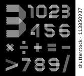 font from sellotape tape  ...   Shutterstock .eps vector #113850937