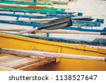 wooden boat oars and boats as a ... | Shutterstock . vector #1138527647