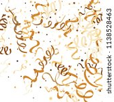 golden star ribbon confetti....   Shutterstock .eps vector #1138528463