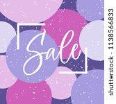 sale artistic lettering in the... | Shutterstock .eps vector #1138566833