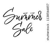 summer sale hand lettering. dry ... | Shutterstock .eps vector #1138566857