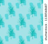 jungle contemporary print with... | Shutterstock .eps vector #1138568687