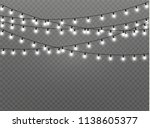 christmas lights isolated... | Shutterstock .eps vector #1138605377