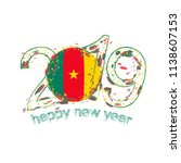 happy new 2019 year with flag... | Shutterstock .eps vector #1138607153