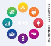 modern  simple vector icon set... | Shutterstock .eps vector #1138609973