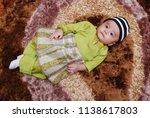 male kid post for portrait... | Shutterstock . vector #1138617803
