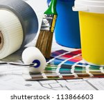 tools and accessories for home... | Shutterstock . vector #113866603