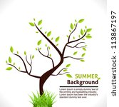 summer background of tree with... | Shutterstock .eps vector #113867197