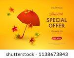 vector template of autumn sale... | Shutterstock .eps vector #1138673843