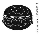 cheeseburger icon. simple... | Shutterstock .eps vector #1138686317