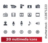 multimedia icons  photo  video  ...