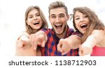 closeup of three young people... | Shutterstock . vector #1138712903