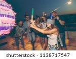 birthday girl hitting the... | Shutterstock . vector #1138717547