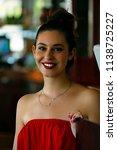 portrait of beautiful smiling... | Shutterstock . vector #1138725227