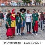 moscow   june 15  2018  soccer... | Shutterstock . vector #1138764377