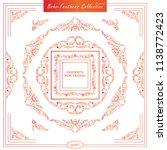 vector set of vintage square... | Shutterstock .eps vector #1138772423
