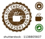 hot chocolate medallion stamp.... | Shutterstock .eps vector #1138805837