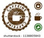 caffeine medallion stamp.... | Shutterstock .eps vector #1138805843