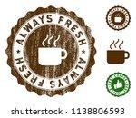 always fresh medallion stamp.... | Shutterstock .eps vector #1138806593