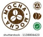 mocha brown stamp. vector seal... | Shutterstock .eps vector #1138806623