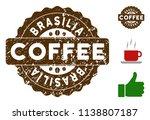 brasilia reward medallion stamp.... | Shutterstock .eps vector #1138807187